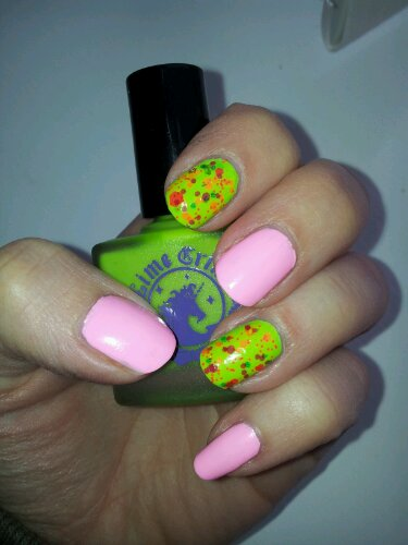 NOTD! Lime Crime and Lush Lacquer