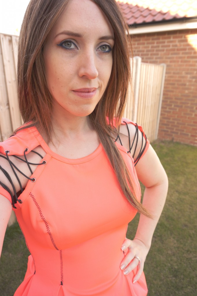 nasty gal orange top