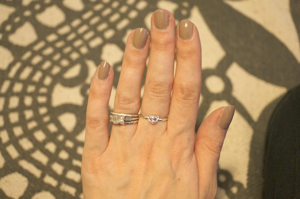 violet darkling loris ring
