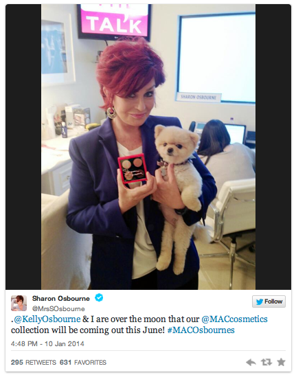 kelly sharon osbourne mac