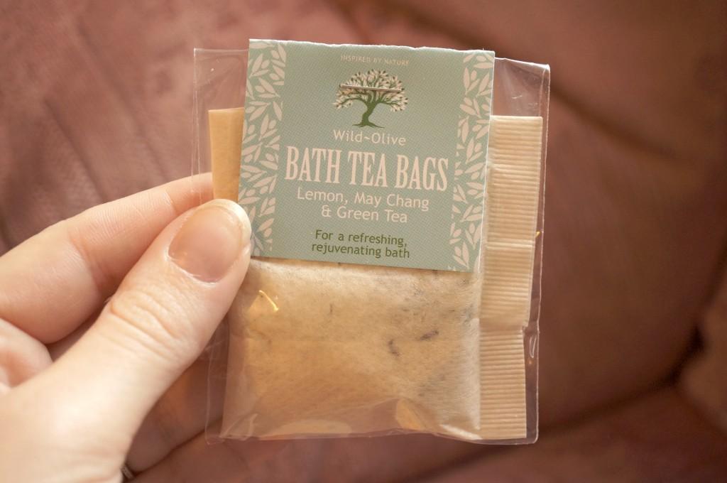 wild olive bath tea bags