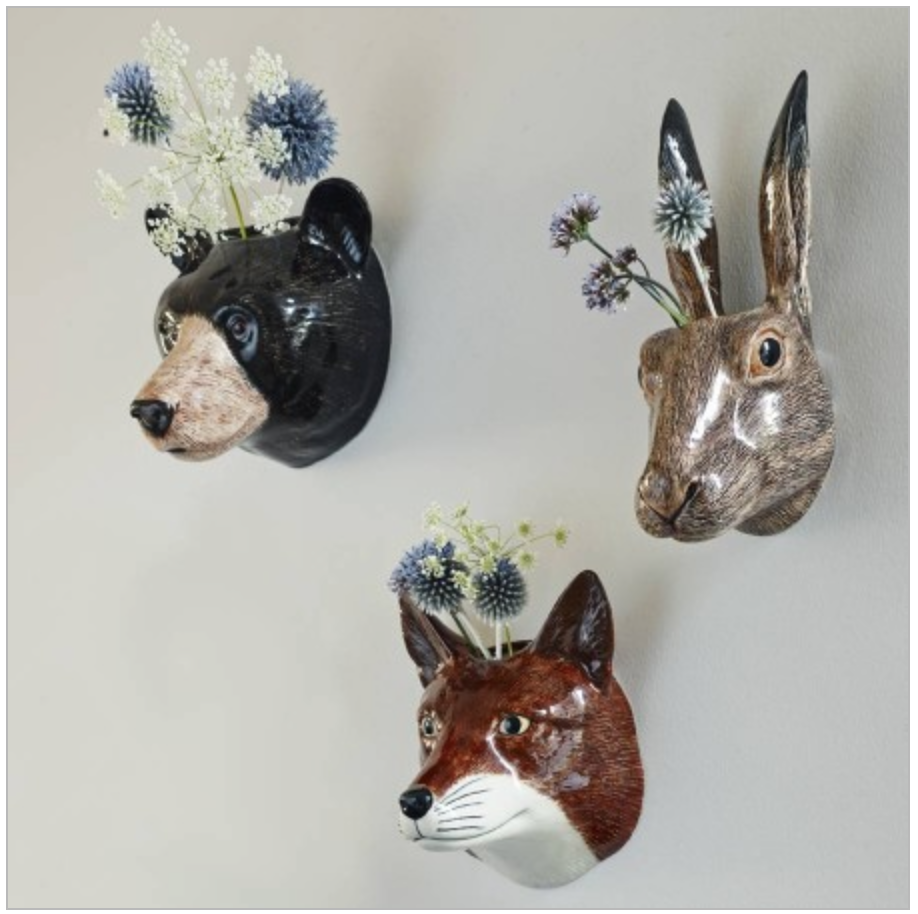 animal wall vases
