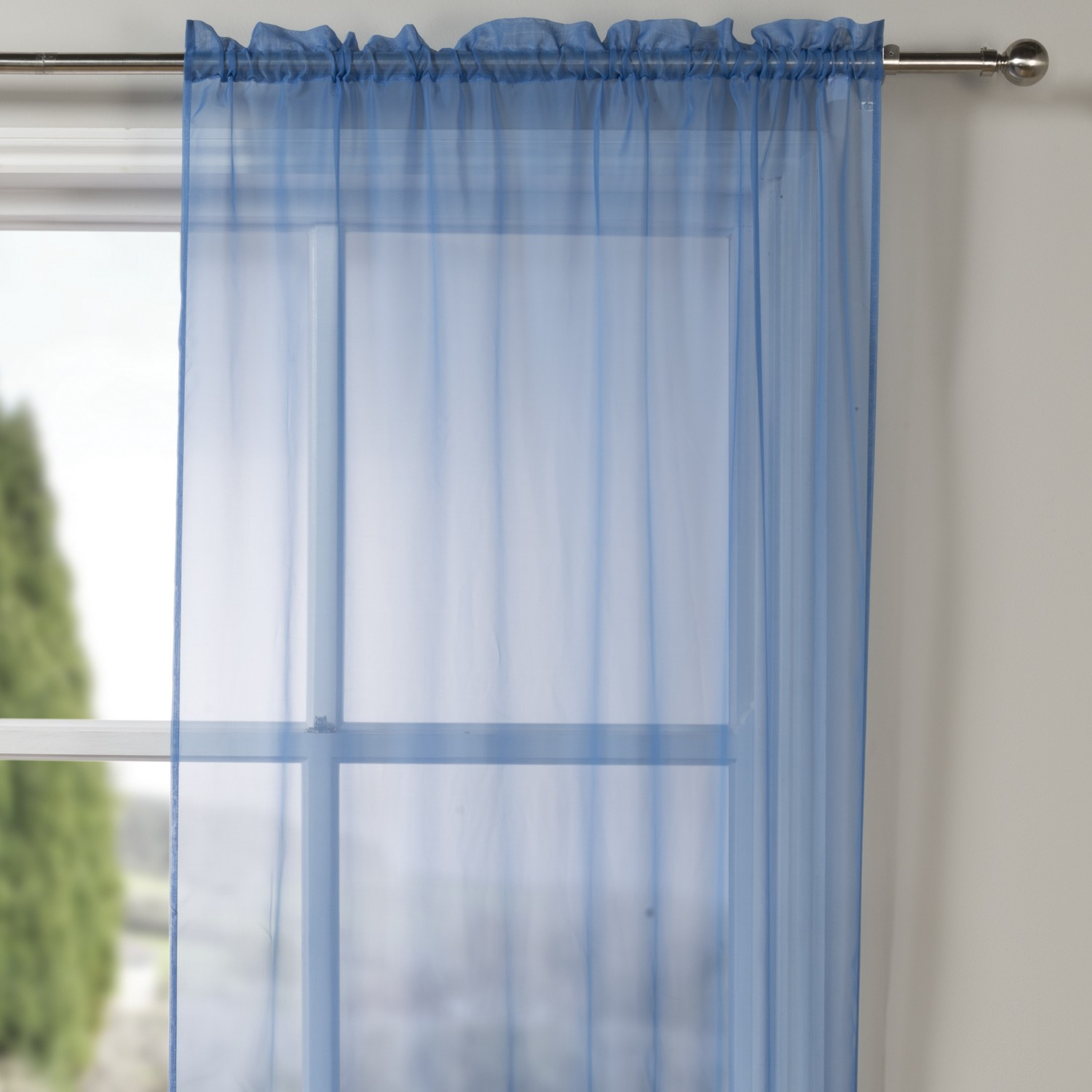 sheer blue curtains