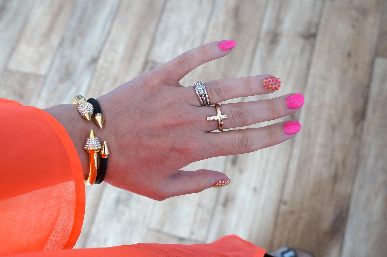 summer bright nail art