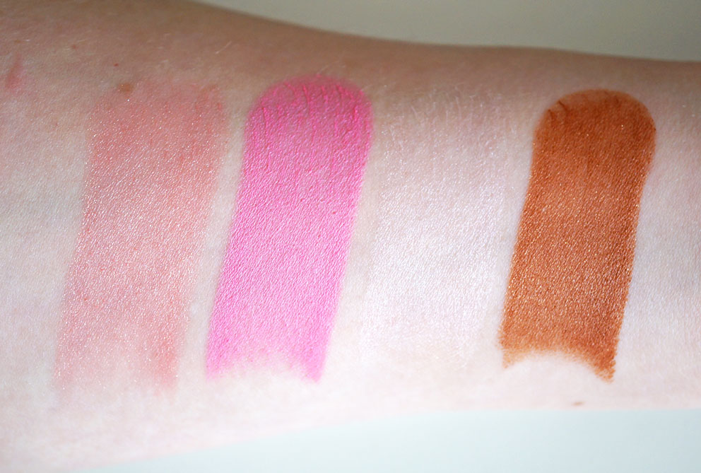 makeup-revolution-blush-sticks-shimmer-swatches