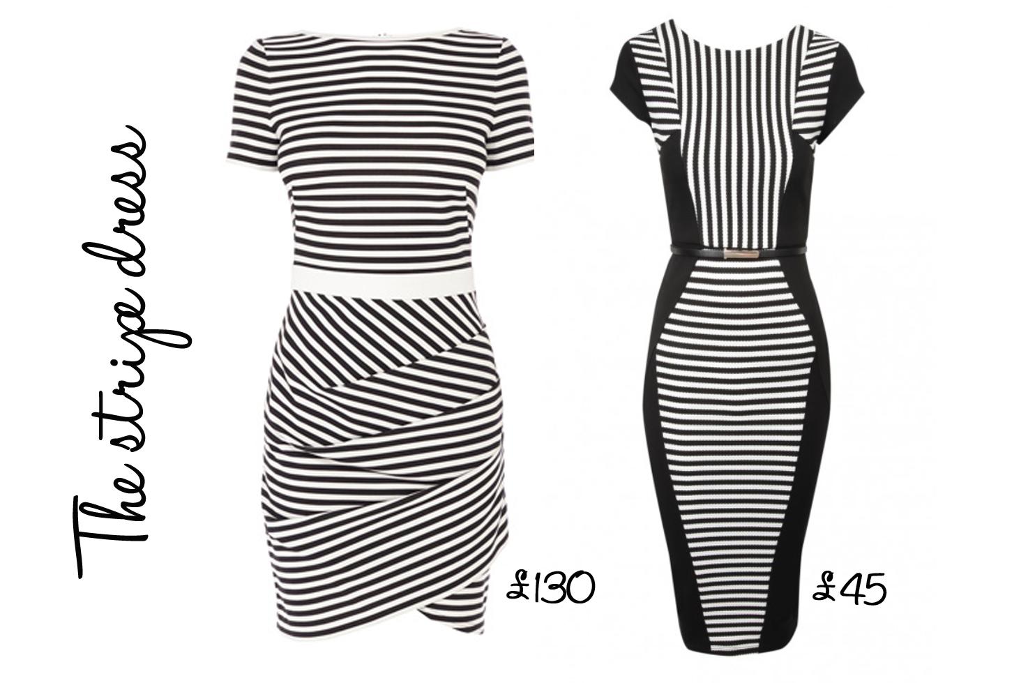 Jane norman black white dress