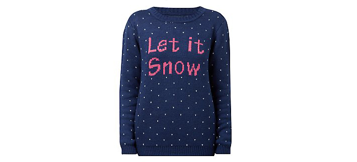 christmas jumper let it snow