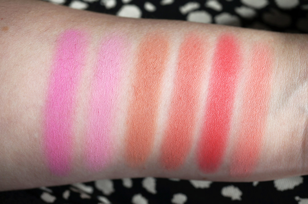 makeup-revolution-matte-blush-swatches