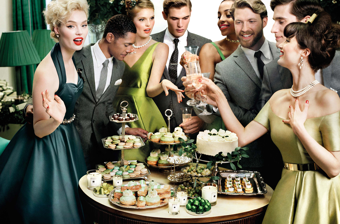 So For Holiday 2015 Jo Malone Have Gone Vintage Luxe With A Glamorous 1950s Christmas Party Theme The Models Are Dressed In Fabulous 50s Dresses