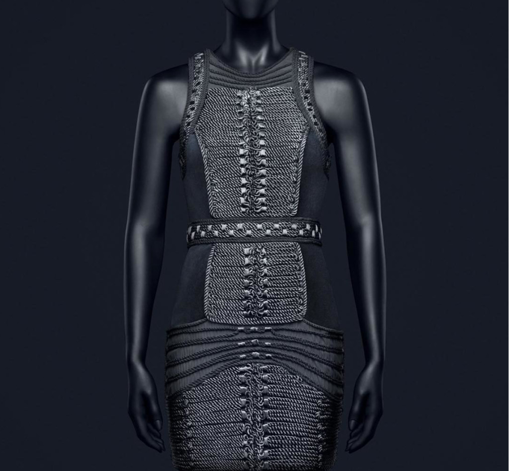 hm-balmain-grey-statement-dress