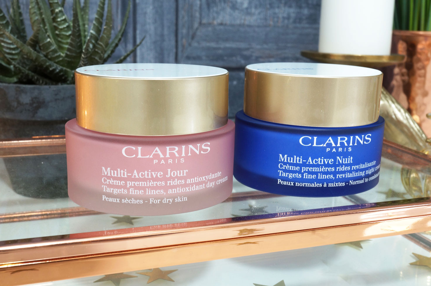 clarins multi active day and night creams thou shalt not covet. Black Bedroom Furniture Sets. Home Design Ideas